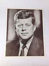 "John F. Kennedy JFK 11"" X 14"" VTG Photo Print B&W Official Presidential Portrait"