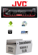 Renault Clio 1+2 - Car Stereo Radio JVC KD-T402 CD MP3 USB Android - Ein