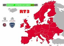 RT3 CD ITALIA NEW 2017  + SW5.52 - 6.63 Mappa Navigatori Lancia Peugeot Citroen