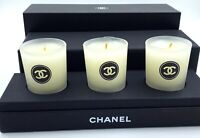 CHANEL candle scented bougies parfumees in box set 3x VIP GIFT