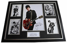 Johnny Marr SIGNED Framed Photo Autograph Huge display Smiths Music AFTAL COA