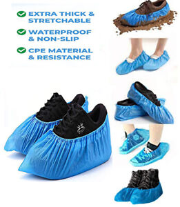 Disposable Shoe Covers Anti Slip Plastic Cleaning Overshoes 50x Protective Cover