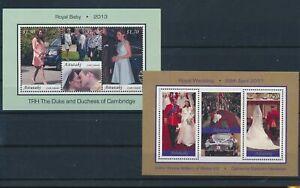 LO28628 Cook Islands Aitutaki Kate William wedding royalty sheets MNH