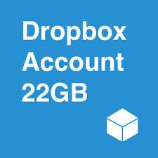 New Dropbox Account With 22GB Lifetime Storage