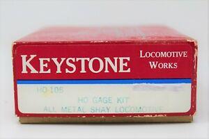 HO Scale Keystone HO-105 All Metal Shay Locomotive With NWSL #208-6 Powering Kit