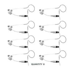 LOT OF (8) - PYLE PMEMS10 In-Ear Mini XLR Omni-Microphone Mic for Shure System