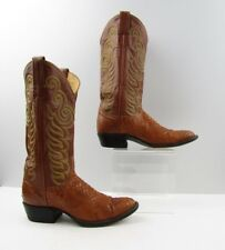 Ladies Tony Lama Brown Snake Leather Cowboy Western Boots Size: 6.5 A *NARROW*