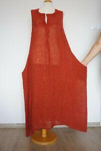 Ivan Grundahl Maxi Linen Ochre Dress Size: 44