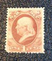US Stamps # O83 1c Officials F VF OG HINGED Scott Value $240.00
