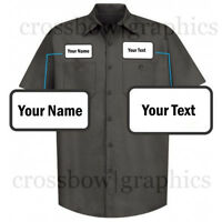 DICKIES Mens CUSTOM Short Sleeve Work Shirt Classic Workwear Uniform Personalize