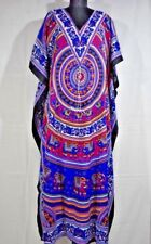 Gorgeous Digital Print Kaftan, Long Maxi Caftan, Night Gown, Sundress, Free Size