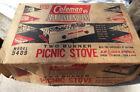 Vintage 1950s Coleman 2 Burner Picnic Stove Model 5409 with Coghlan's Lighter