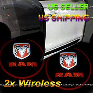 2x Wireless Ghost Shadow Laser Projector LED Light Courtesy Door Step DODGE RAM
