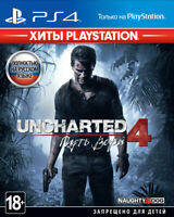 *NEW* Uncharted 4: A Thief's End (PS4, 2016) English,Russian,Polish,Turkish