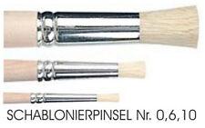 Schablonierpinsel - 3 Stück ( Nr. 0,6,10 )