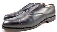Allen Edmonds Men's Byron Shoes Leather Lace Up Cap Toe Oxfords Black Size 11