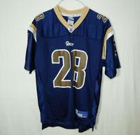 Marshall Faulk St Louis Rams NFL Football Jersey Reebok Size YOUTH LARGE 14 / 16