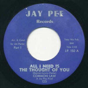70s - COMMON LAW All I Need Is The.. JAY PEE XO Crossover Soul 45 HEAR