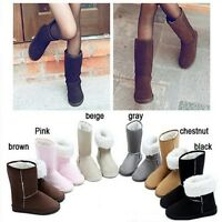Women Lady  Warm Winter Snow Boots Ankle Rubber+Flock Boots Flat Shoes 6 Color N