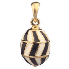 Faberge Egg Pendant / Charm 2.3 cm black #0984-13