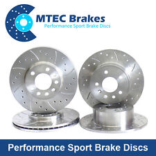 For Nissan 200SX TURBO S14 S14a MTEC Drilled Grooved Brake Discs Front Rear