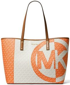 NWT Michael Kors Carter Large Signature Open Tote