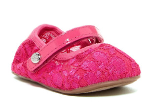 NEW Open Box Stuart Weitzman Pink Lace Mary Jane Shoe (Baby) USA 2 Euro 17