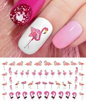 Flamingo Nail Art Waterslide Decals - Salon Quality!