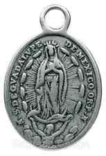 GUADALUPE / CHRIST ON CROSS WITH ANGELS Medal, silver cast from antique original