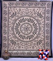 Indian Queen Elephant Tapestry Mandala Psychedelic Hippie wall hanging Bedspread