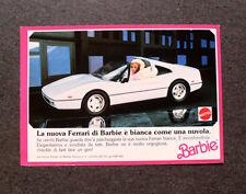 I276-Advertising Pubblicità-1989- BARBIE , LA NUOVA FERRARI BIANCA , MATTEL