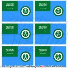SAUDI ARABIA AirForce Ensign Flag Mobile Cell Phone Mini Stickers, Decals x6
