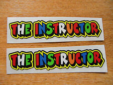 """decals 5in x 1in /""""THE LOVER/""""  x2 stickers Valentino Rossi style text"""