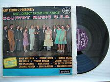 Hap Peebles Presents, Musique Country U.S.A., HA-B-8185 VG État trèS RARE LP