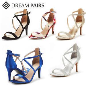 DREAM PAIRS Women's Pump Heel Sandals Stilettos Ankle Strap Open Toe Sandals