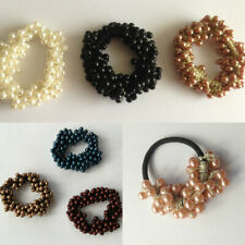 Pearl Beads Hair Band Rope Scrunchies Ponytail Holder