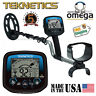 "Teknetics OMEGA 8500 Metal Detector With 10"" WATERPROOF Coil Made in USA !"