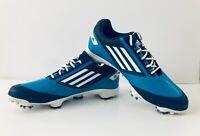 Adidas Adizero Comfort Mens Low Sports Cleats Blue White Size 9.5 Excellent