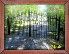 New Orleans Style Steel Driveway Gate 11' or 12' Home Security Veteran Discount