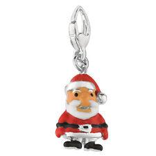 Santa Plata de Ley Langosta Engaste Vacaciones Navidad st Nick Colgante Charm