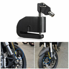 Alarm Disc Lock Motorcycle Motorbike Security Anti Theft Set Black 2 keys