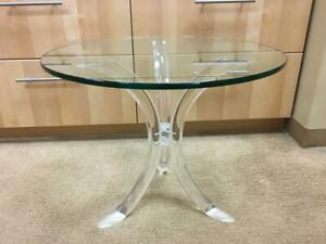 Mid-Century Lucite End Table in the Style of Charles Hollis Jones (No Glass)