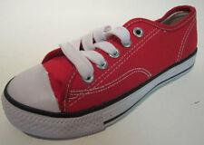 Scarpe rosso con lacci per bambini dai 2 ai 16 anni