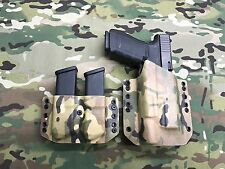 Multicam Kydex Holster for Glock 20 21 Surefire X300 Ultra A & Dual Mag Carrier