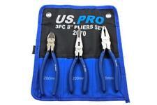 US Pro 20.3cm 200mm 3 pièces Jeu de pinces, Pince coupante, NEZ LONG , pince