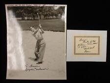 Byron Nelson Autographed 8″ x 10″ Vintage B&W Original Photograph
