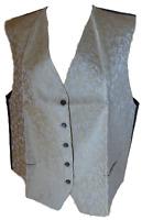 edle Damen Weste ärmellos silber oder gold Rücken schwarz Gr. 46, 50, 52, 54 NEU