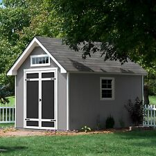 Everton 8' x 12' Deluxe Wood Storage Shed 740 cubic feet of storage