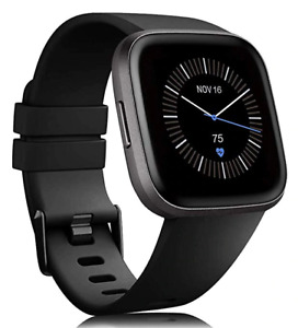 Replacement Band For Fitbit Versa 2 Soft Silicone Waterproof Wrist BLACK