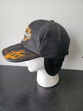 Vintage Harley Davidson Trucker Biker Hat Cap Buckleback Excellent Condition USA